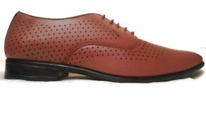 Mens New Smart Black, Tan & Brown Formal Wear 8-10 Dress Shoe UK Size 8-10 Wear 2ba3af