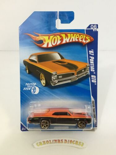 2010 Hot Wheels #134 67 Pontiac GTO FTE orange//black Walmart exclusive SSS3