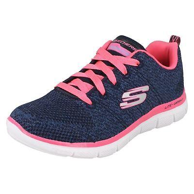 Niñas Skechers Skech Appeal 2.0 - alta energía 81655 Navy/Hot Pink Zapatillas