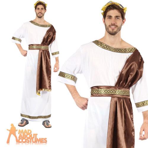 Adult Greek God Costume Mens Roman Toga Egyptian Fancy Dress Outfit New