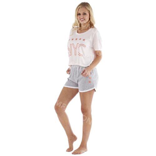 Ladies Womens Summer Crop Top Short Pyjamas Full Set Suit Loungewear Night Pjs