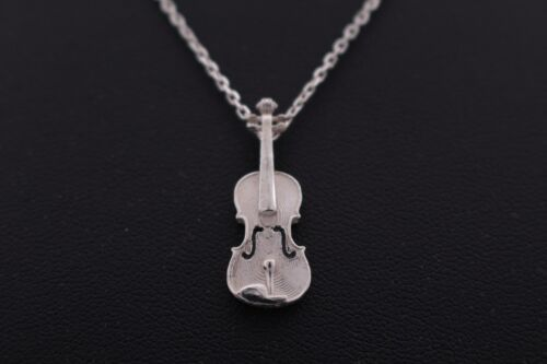 Violin Love Music Woman girl Jewelry GaonDaon Pendant necklace silver 925 Gd12