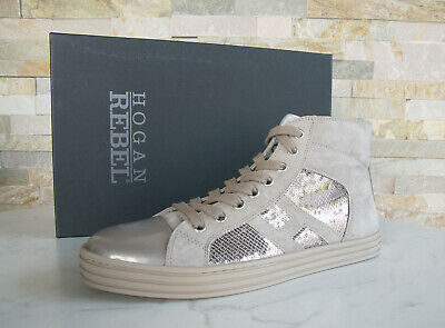 Hogan Rebel Size 39,5 High Sneakers Lace Up Shoes Beige New ...
