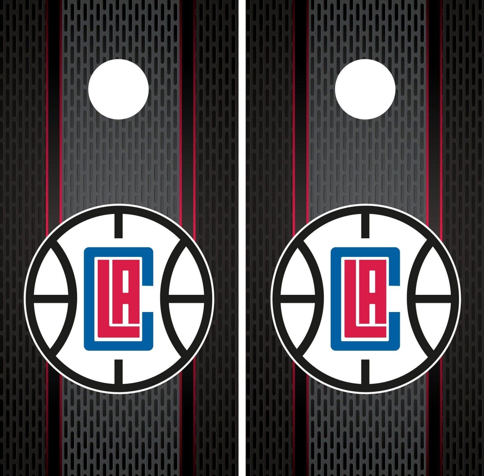 LA Clippers Cornhole Wrap NBA Game Board Skin Set Vinyl Decal Decor CO627