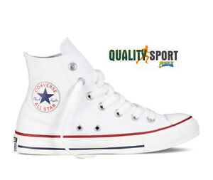 Converse All Star Chuck Taylor All Star Hi Bianco Scarpe Shoes Sneakers M7650C