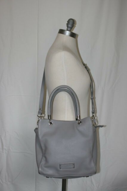 7007448c82 Marc Jacobs Bentley Too Hot to Handle Storm Cloud Grey Leather Bag Purse