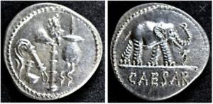 Empire Romain-caius Julius Caesar/jules César-solid Silver Denarius-afficher Le Titre D'origine Yfknioyy-07232055-981231737