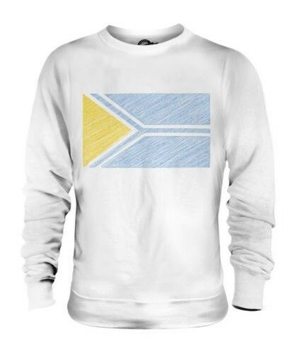 Tuva Scribble Flag Unisex Pullover Top Geschenk Fußballtrikot
