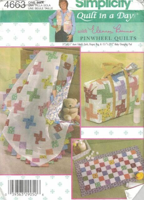 Simplicity 4663 Eleanor Burns Quilt In A Day Baby Quilt & Diaper Bag Pattern