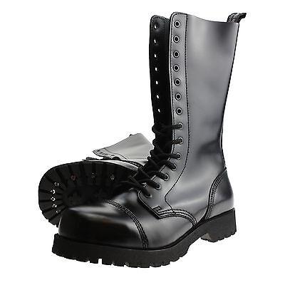 Boots And Braces 14-loch Stiefel Rangers Springerstiefel Stahlkappe Schwarz Lassen Sie Unsere Waren In Die Welt Gehen