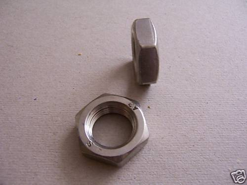 M12x1 V2A rostfrei 5St Flache Sechskantmuttern DIN 439