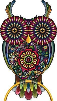 FLORAL PRINT OWL IRON ON T SHIRT TRANSFER / VINTAGE ANIMAL ART HIPSTER RETRO TOP