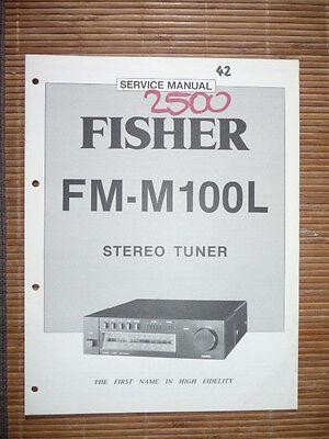 2019 Mode Service-manual Für Fisher Fm-m100l Tuner, Original! So Effektiv Wie Eine Fee