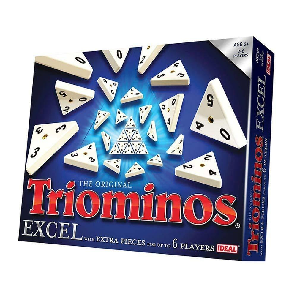 TRIOMINOS EXCEL GAME FOR UP TO 6 PLAYERS - IDEAL GAMES JOHN ADAMS - NEW & SEALED
