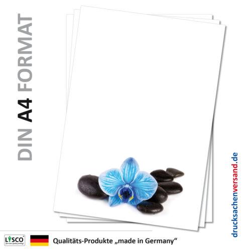 blaue Orchidee Steine Motivpapier Briefpapier Wellness-5068 DIN A4 25 Blatt