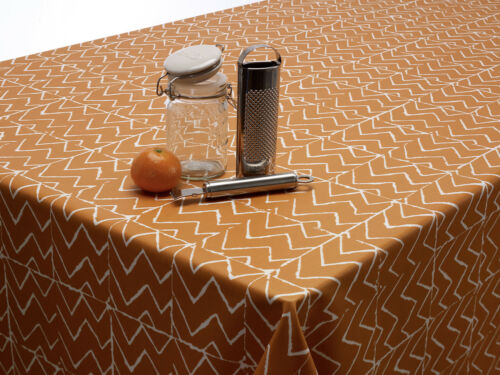 Zig Zag Chevron Oilcloth Tablecloth Wipe Clean Table Cover Round Rectangle