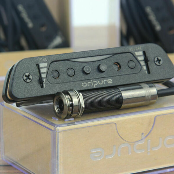 """Oripure Acoustic Guitar Electromagnetic Soundhole Pickup with Endpin Jack1//4/"""""""