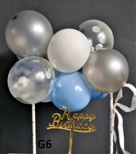 CONFETTI BALLOON CAKE TOPPER GARLAND ARCH BIRTHDAY WEDDING PARTY MULTI COLOURS
