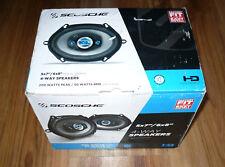 Scosche 5x7/6x8 HD 4-way Car Speaker Set 200w Peak/50w RMS Powerful Bass