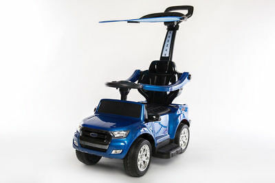 Rutschauto Ford Ranger Kinderauto Schiebeauto Lizenz Rutschfahrzeug 4in1 Blau Erfrischung Kinderfahrzeuge Bobby Car