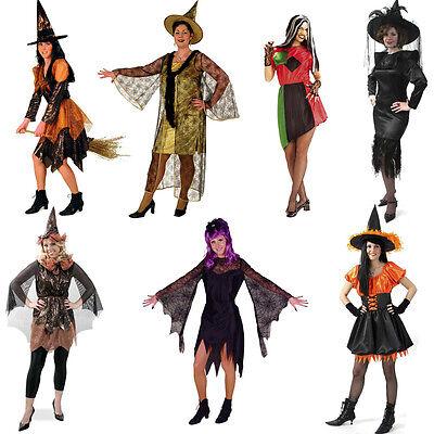 Hexe Horror Damen Kostüm Fries Karneval Fasching Witch Verkleidung Gr. 36-54 neu