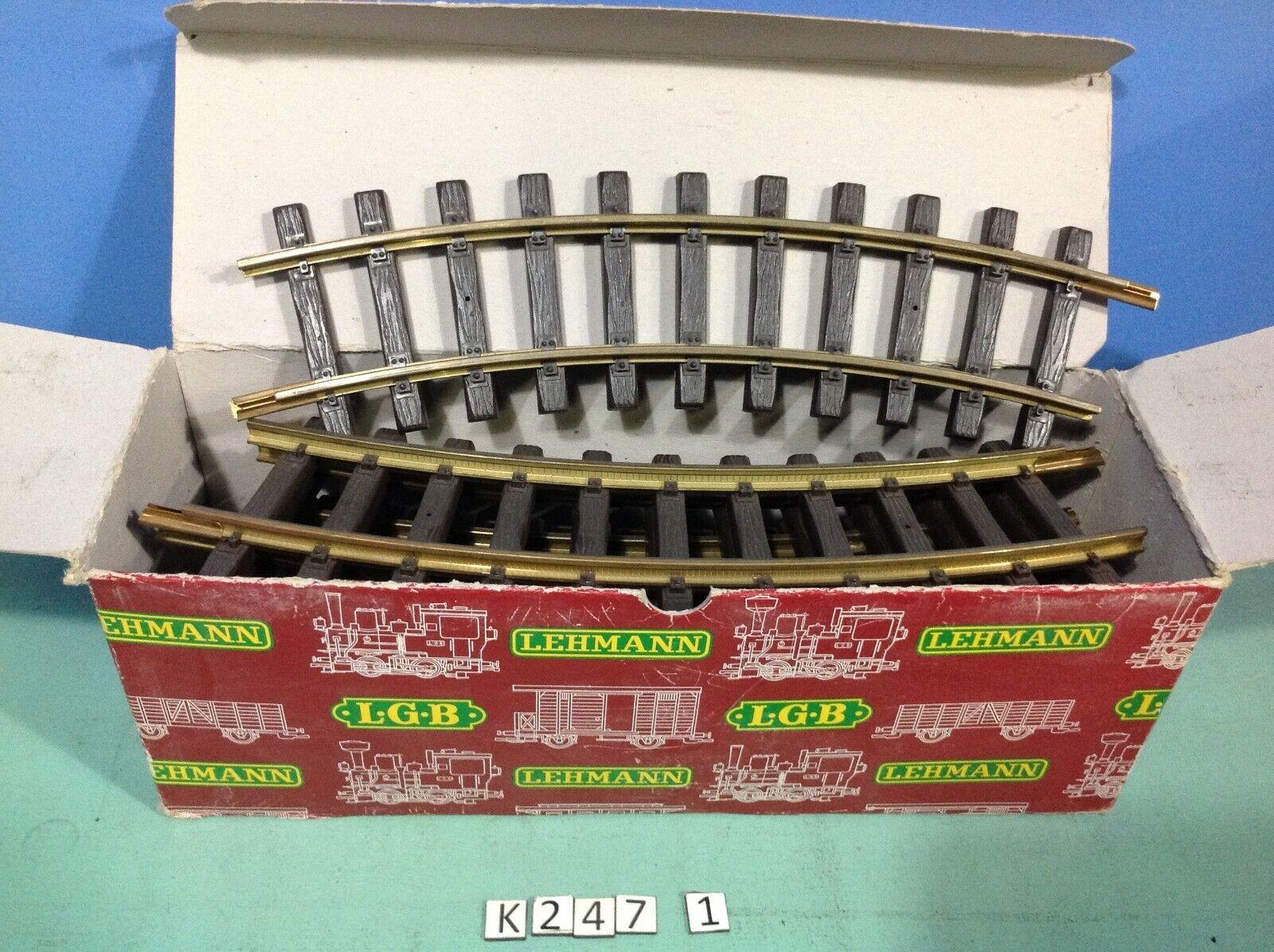 (K247.1) playmobil 10 rails courbes laiton LGB ref 1100 en boite
