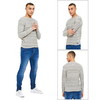 Threadbare Mens Designer Bagel Neck Soft Knitted Long Sleeved Cotton Rich Top Durch Wissenschaftlichen Prozess