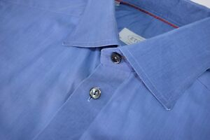 Eton-Solid-French-Blue-Dress-Shirt-Size-39-15-5-Contemporary