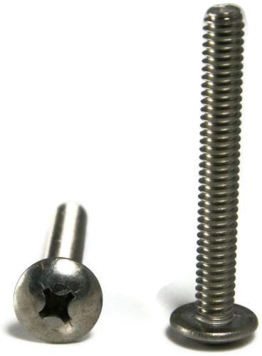 Machine Screws Phillips Truss Head Stainless Steel #10-24 x 5//16 Qty 50