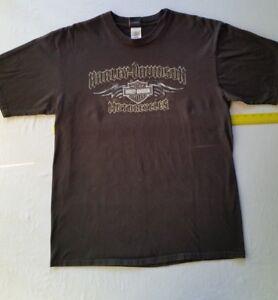 Harley-Davidson-Mile-High-Denver-Colorado-XL-Men-039-s-2008-Black-Logo-Shirt