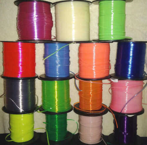 15 Glow /& Clear Mix ~ 5 YDs Each ~ 75 YDs Rexlace ~ Gimp Plastic Lace NO SPOOLS