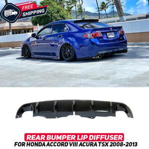 Rear Bumper Lip Diffuser For Honda Accord 8 Acura TSX CU2 2008-2013 Body Kit New