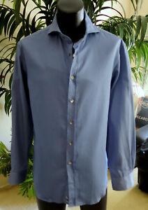 Giorgio-Armani-Black-Label-Shirt-S-NEW-W-Tags-15-5-34-Stunning-Blue