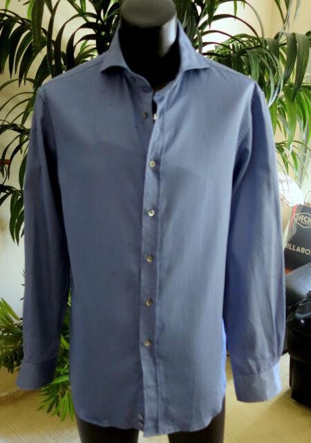 Giorgio Armani Black Label Shirt S NEW W/Tags 15.5-34 Stunning Blue