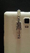 Skeleton Dangle Charm For Mobile Phone. Tablet. Ipad. Iphone. Dust Plug.