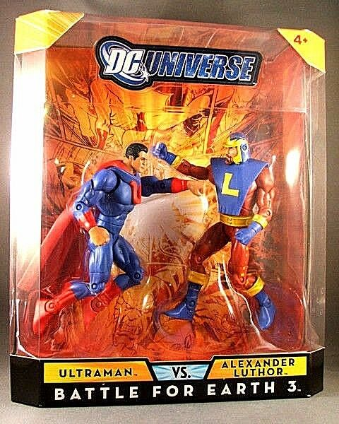 Dc - universum classics_ultraman vs. alexander luthor figs_exclusive limited edition