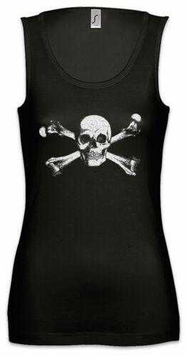 Skull /& Crossbones Damen Tank Top Totenkopf und gekreuzte Knochen Piraten Flagge