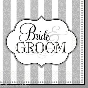 36-Bride-And-The-Groom-Wedding-Party-3ply-Disposable-33cm-Napkins