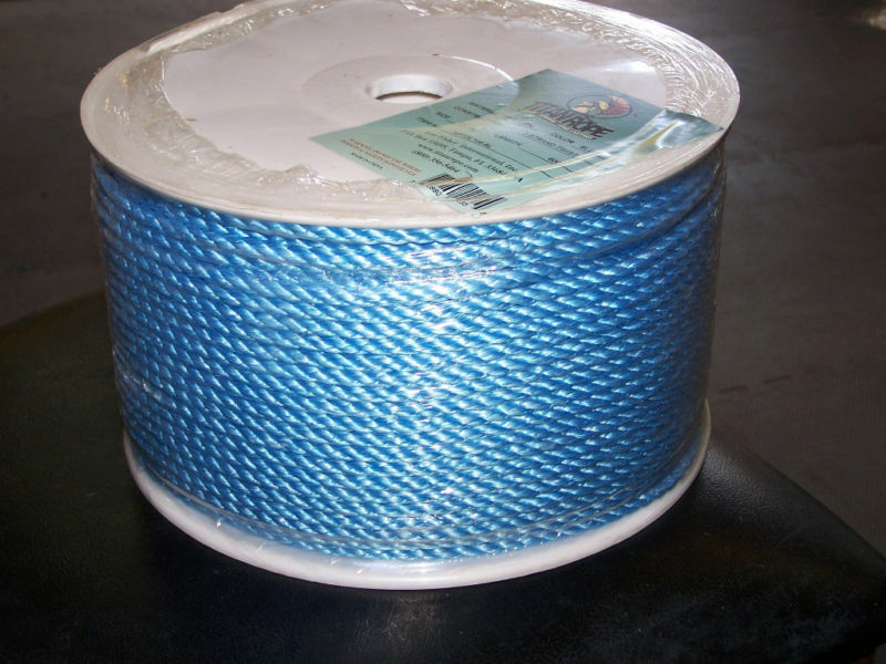 600' Poly Pro Ocean bluee Sport Rope For Borders 3 8  Fishing Line Crab Lines