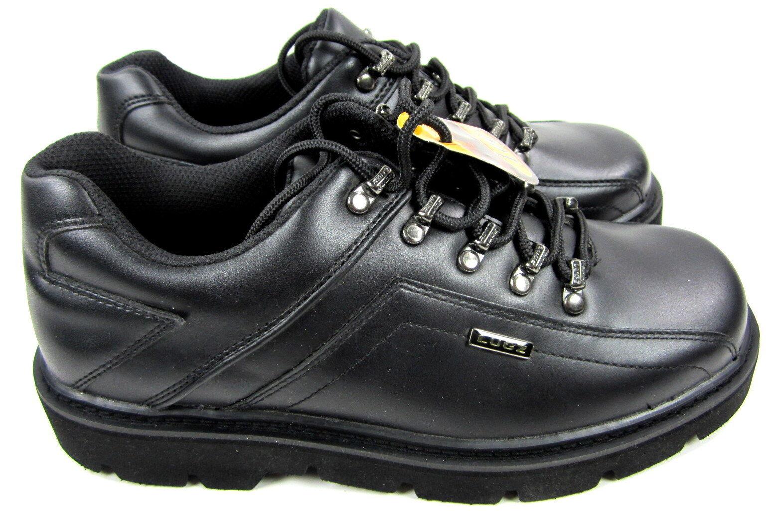 Lugz Zapatos tenis atléticas Negro de respuesta Cuero Negro atléticas Tamaño 9 c706b1