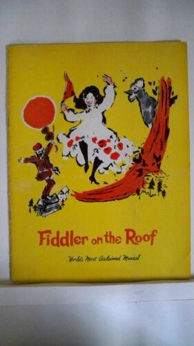 DOLORES WILSON NYC 1965 FIDDLER ON THE ROOF Souvenir Program LUTHER ADLER
