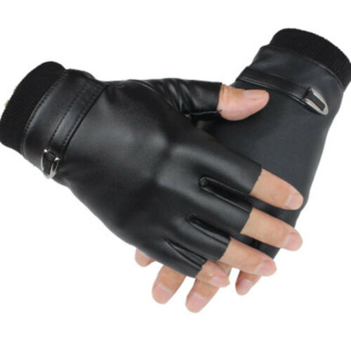 finger Gloves Soft Leather Plus Velvet Cycling Sports Gloves Male Outdoor Half