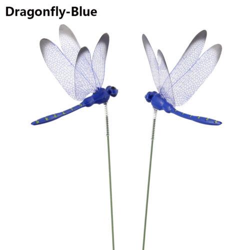 Decoration Artisanat Libellule artificielle Tige de soupape Tige fine Papillon