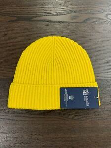 100-Cashmere-Beanie-Hat-Johnstons-of-Elgin-Made-in-Scotland-Yellow-Soft