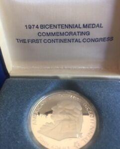 1st Continental Congress Bicentennial Commem Proof Silver Medal 1974 U.S
