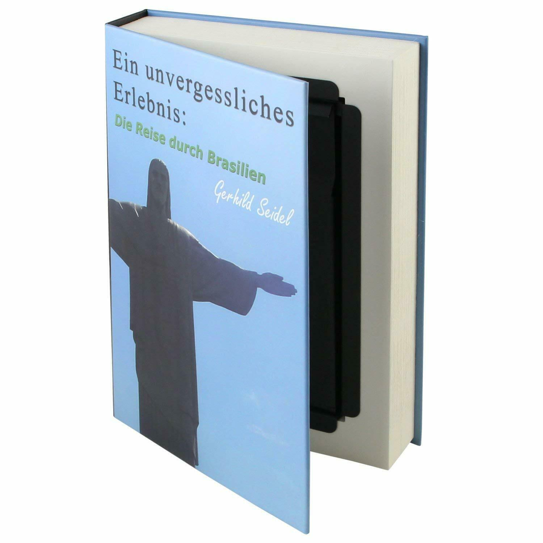 HMF 80905 Caja Fuerte de Camuflaje libro Brasil con paginas de papel 23x15x4 cm