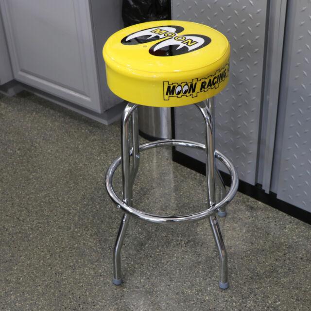 Terrific New Mooneyes Moon Logo Graphic Yellow Black Bar Stool 30 Height Mg292 Pdpeps Interior Chair Design Pdpepsorg
