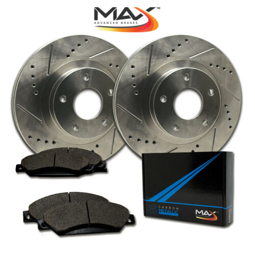 Rotors w//Metallic Pad Premium Brakes 2007-2015 Edge MKX Front
