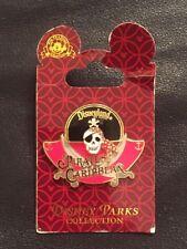 DLR Pirates of The Caribbean Logo Disney Pin Skull Cross Swords 2011 on Card