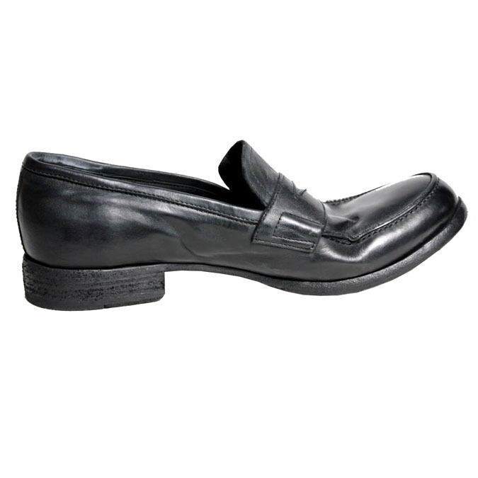OPEN CLOSED MOCASSINO hommes  100% pelle MADE IN ITALY noir